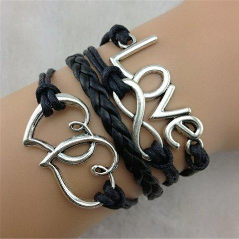 Simple Stylish Love Heart Layered Bracelet For Women