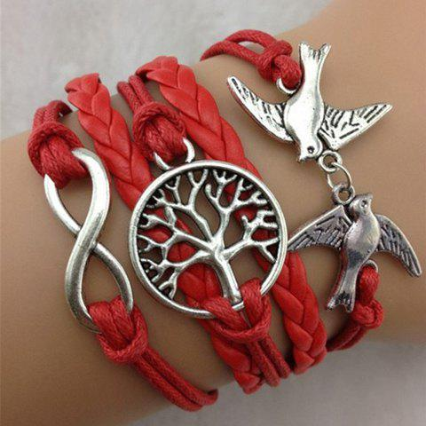 Pigeon Life Tree Infinity Layered Bracelet - AS THE PICTURE