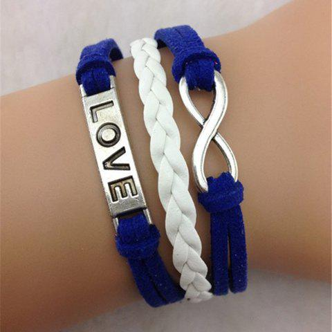Infinity Love Letter Layered Bracelet - COLOR ASSORTED