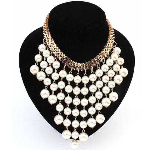 Elegant Fashion Pearl Tassel Necklace For Women - AS THE PICTURE