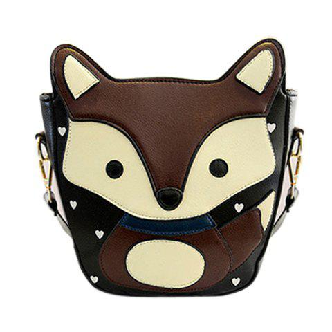 Fox Small Crossbody Bag - COFFEE