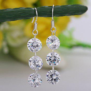 Pair of Diamante Pendant Drop Earrings