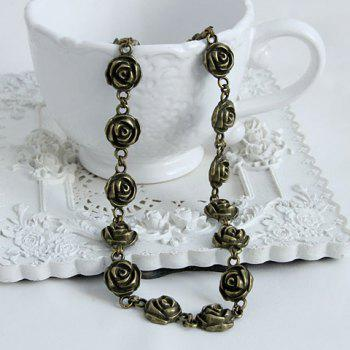 Retro Chic Flower Decorated Hairband For Women - AS THE PICTURE AS THE PICTURE