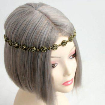 Retro Chic Flower Decorated Hairband For Women -  AS THE PICTURE