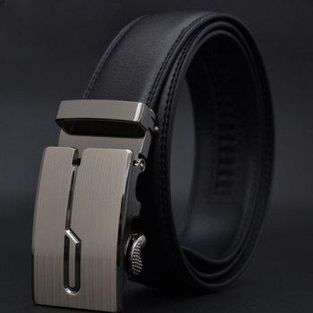 Chic Stylish Square Buckle Solid Color Waist Belt For Men