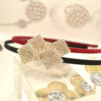 Cute Diamante Bowknot Decorated Hairband For Women  (ONE PIECE) - COLOR ASSORTED COLOR ASSORTED