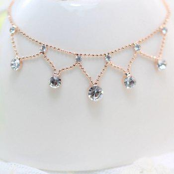 Rhinestone Pendant Beads Anklet - COLOR ASSORTED COLOR ASSORTED