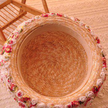 Stylish Lace Flowers Decorated Sun Hat For Women -  LIGHT CAMEL
