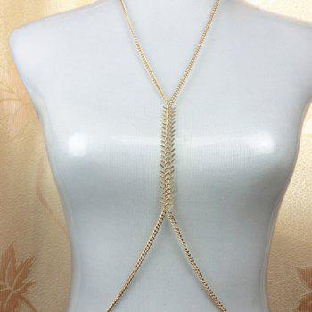 Alloy Fishbone Shape Body Chain - COLOR ASSORTED COLOR ASSORTED
