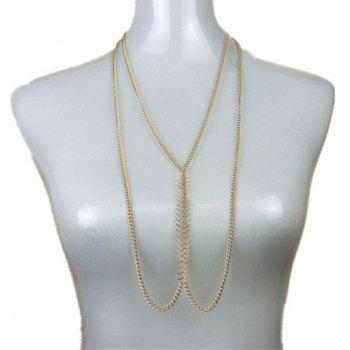 Alloy Fishbone Shape Body Chain - COLOR ASSORTED