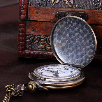 Luxury Design 12 Arabic Numbers Analog Flip Pocket Watch -  GOLDEN