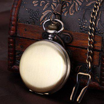 Luxury Design 12 Arabic Numbers Analog Flip Pocket Watch