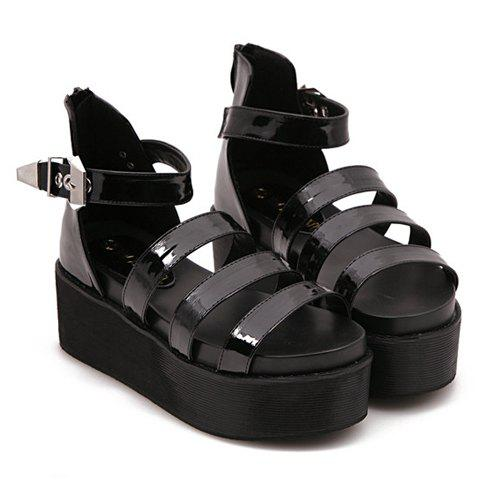 Rome Wedge Heel and Buckle Design Sandals For Women cleopatra and rome