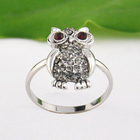 Stylish Owl Rhinestone Ring For Women