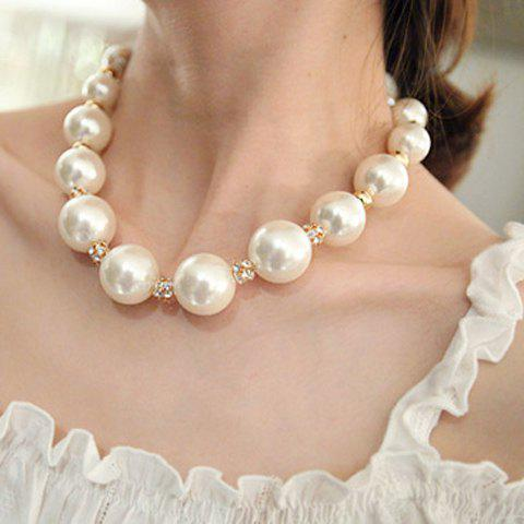 Fake Pearl Necklace - AS THE PICTURE