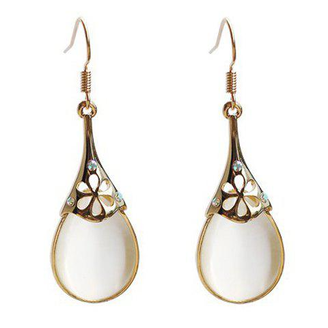 Pair of Rhinestone Faux Opal Drop Earrings - COLOR ASSORTED