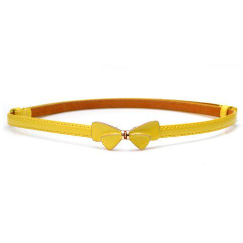 Simple Butterfly Pattern Buckle Solid Color Waist Belt For Women - COLOR ASSORTED