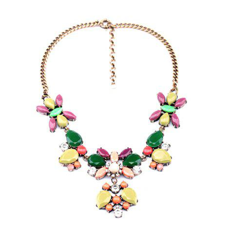 Exquisite Faux Gemstone Decorated Multi-Butterfly Pattern Pendant Necklace For Women - COLORFUL