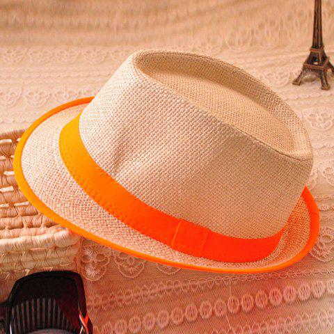 Chic Candy Color Belt Decorated Simply Designed Sun Hat For Men and Women - JACINTH
