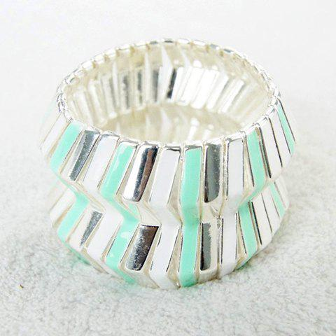Fashion Chic Wavy Wide Openwork Bracelet For Women - AS THE PICTURE