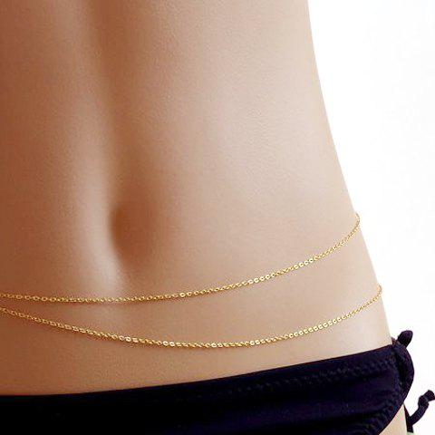 Exquisite Double-Layer Belly Chain For Women - GOLDEN