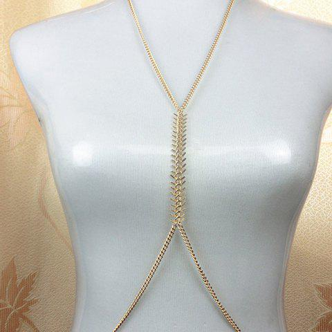 Fashion Fishbone Pattern Body Chain For Women - COLOR ASSORTED