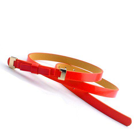 Cute Sweet Slender Solid Color Waist Belt For Women - COLOR ASSORTED