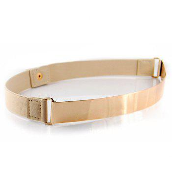 Laconic Square Metal Buckle Waist Belt For Women
