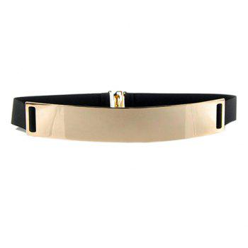 Stylish Chic Metal Buckle Elastic Waist Belt For Women