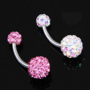 Exquisite Rhinestone Decorated Ball Pattern Belly Button Ring For Women   (ONE PIECE)