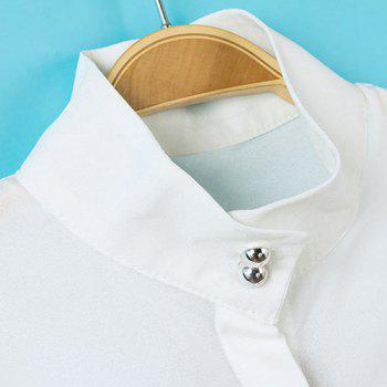 Solid Color Simple Style Stand Collar Lantern Sleeve Women's Blouse - S S