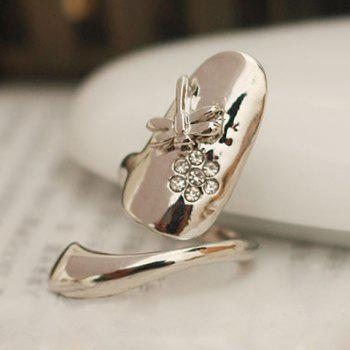 Rhinestone Dragonfly Fingertip Ring (ONE PIECE) - COLOR ASSORTED ONE-SIZE