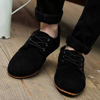 Business Suede and Solid Color Design Formal Shoes For Men - BLACK 42