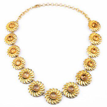 Unique Sunflower Pattern Pendant Necklace For Women