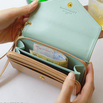 Sweet Solid Color and Crown Design Clutch Wallet For Women - LIGHT COFFEE