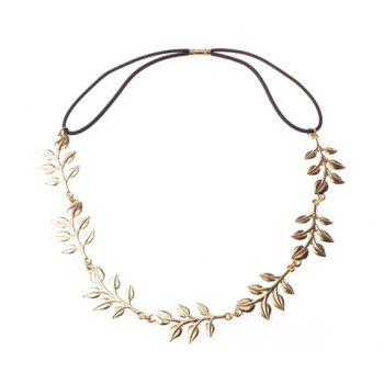 Fashion Stylish Solid Color Leaf Hairband For Women - AS THE PICTURE