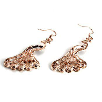 Pair of Chic Fashion Rhinestone Openwork Irregular Triangle Pendant Earrings For Women - AS THE PICTURE