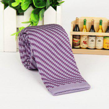 Stylish Chic Striped Plaid Tie For Men -  RANDOM COLOR PATTERN