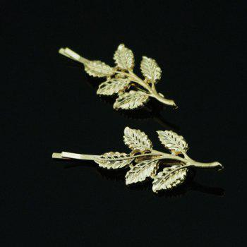 Vintage Leaf Pattern Metal Hairpin For Women    (ONE PIECE) - COLOR ASSORTED COLOR ASSORTED