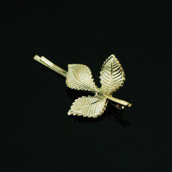 Vintage Metal Leaf Pattern Hairpin For Women    (ONE PIECE) - COLOR ASSORTED COLOR ASSORTED