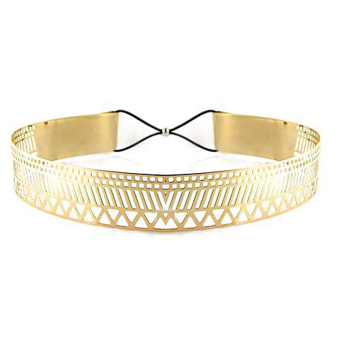 Stylish Chic Metal Eight Buckle Waist Belt For Women - GOLDEN