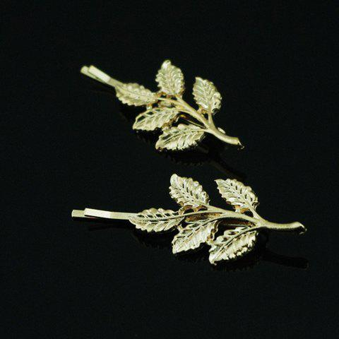 Vintage Leaf Pattern Metal Hairpin For Women    (ONE PIECE) - COLOR ASSORTED