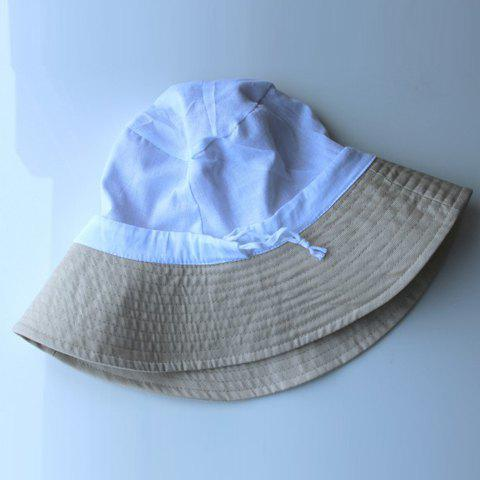 Simple Cotton Solid Color Bucket Hat For Women - COLOR ASSORTED