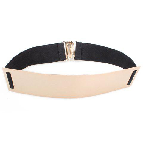 Characteristic Flexible Sheetmetal Decorated Elastic Waist Belt For Women - COLOR ASSORTED