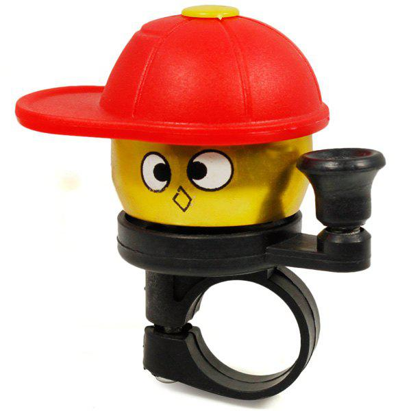 Cute Cap Boy Shaped Bicycle Bell Alarm with Handlebar Mount Bracket