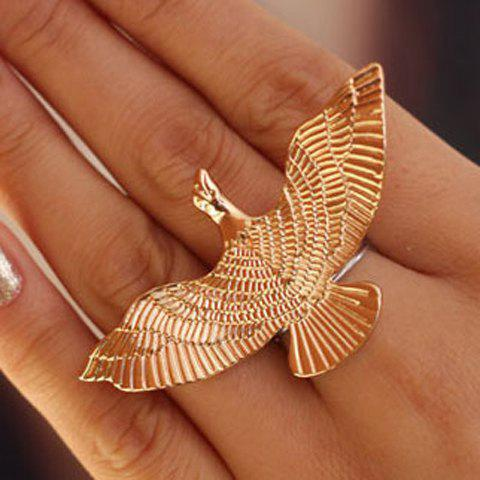 Exaggerated Flying Bird Pattern Ring For Women - GOLDEN ONE-SIZE
