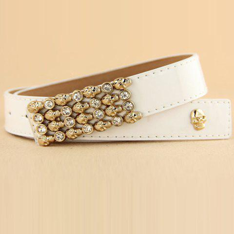 Trendy Fashion Skeleton Decorated Waist Belt For Women - COLOR ASSORTED