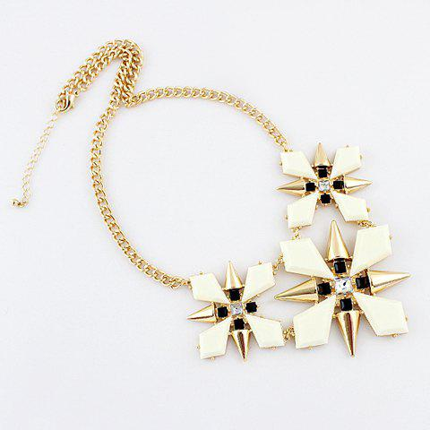 Flower Pattern Pendant Necklace - AS THE PICTURE