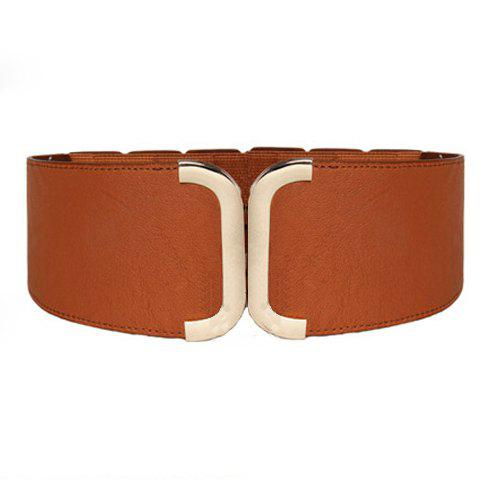 Stylish Chic Wide Elastic Waist Belt For Women - COLOR ASSORTED