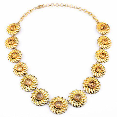 Unique Sunflower Pattern Pendant Necklace For Women - AS THE PICTURE